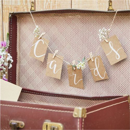 Rustic Country Peg & String Hanging Card Kit (each)